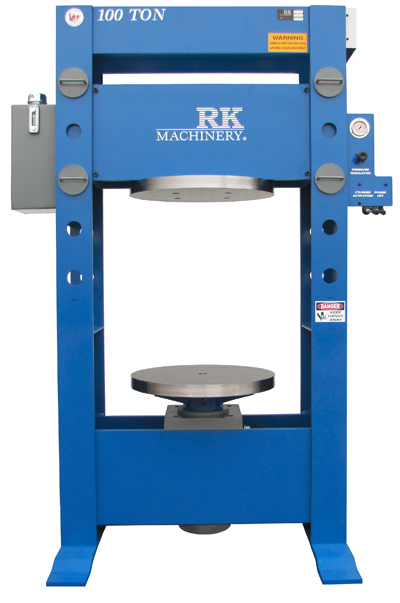 Mobile Forklift Tire Press